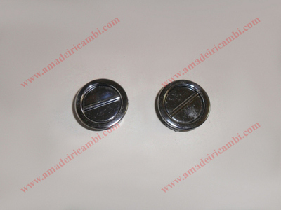 Air diffuser nozzles for dashboard, metal - Lancia Flaminia