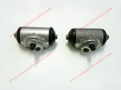 Front brake cylinders, complete - Lancia Appia 2° series